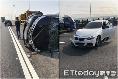 即/國道3號「BMW追撞前車」2人送醫