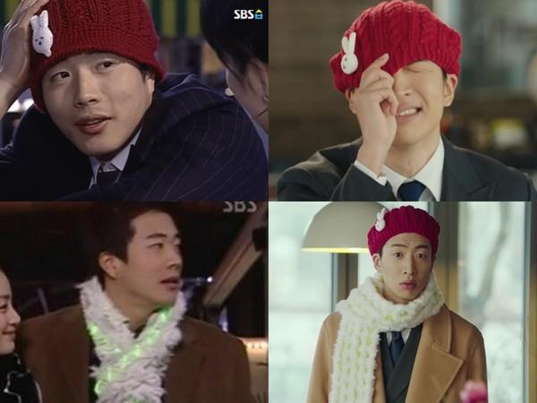 ▲《愛的迫降》復刻《天國的階梯》權相佑造型。(圖/翻攝自tvN、SBS)