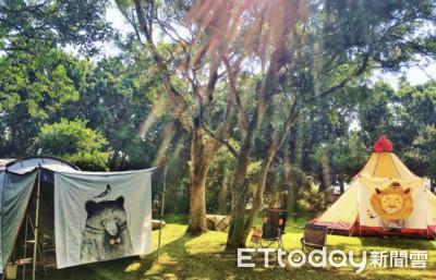 新竹風莊園露營 滑水道孩子嗨翻