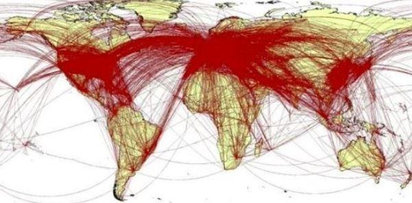 英模擬6萬武漢人「封城前移動路線」 足跡遍佈全球382城市