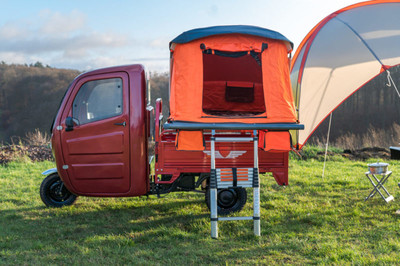 12.9萬買「電動三輪露營車」!廚房寢室都有,近郊小旅行就靠它