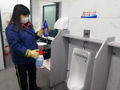 上海公廁升級防疫力度 男廁取消垃圾桶