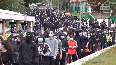 上千港人遊行抗議 警逮捕30人