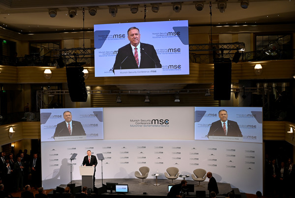 ▲▼Munich Security Conference,MSC,慕尼黑安全會議,Mike Pompeo。(圖/路透社)