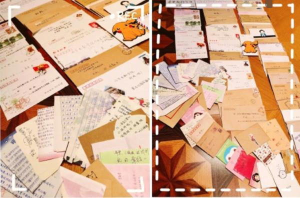 ▲▼鄭爽收藏10年粉絲卡片和手寫信。(圖/翻攝自微博/鄭爽)