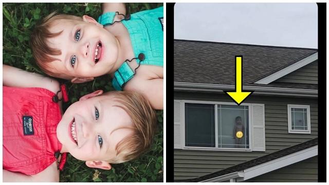 很會抓時間!2歲童「脫光光站窗邊」跟鄰居揮手 媽洗完澡收到照片笑瘋