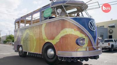 奶奶養的福斯小巴!配備85支↑喇叭 消防車改裝變身派對巴士