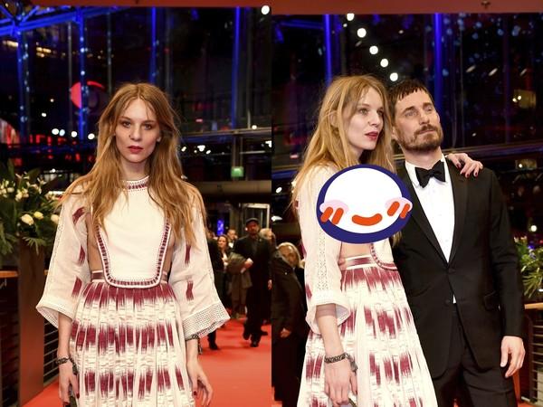 柏林影展/女星胸前掛片布 紅毯一轉身「炸出完整球型」掉半顆