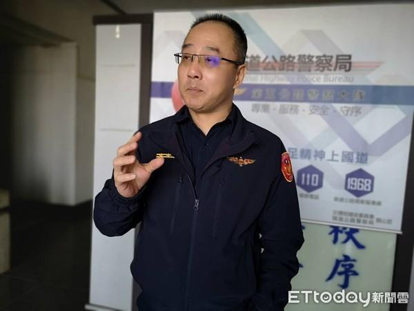 ▲國道警察五隊副大隊長范楊健 。(圖/記者吳奕靖攝)