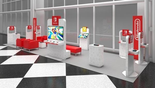 """美国任天堂官方宣布,在美国境内的四座机场开设期间限定的""""任天堂Switch休息室""""。(翻摄美国任天堂官网)"""