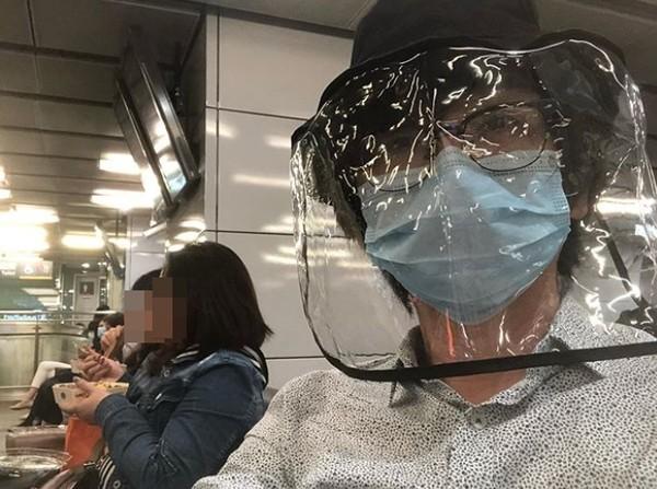 ▲林隆璇防疫超狂裝備。(圖/翻攝自Instagram/林隆璇)