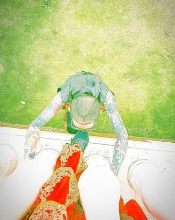 ▲謝和弦、莉婭拍婚紗照。(圖/翻攝自謝和弦Instagram)