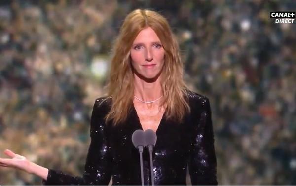 ▲▼羅曼波蘭斯基榮獲凱薩獎最佳導演,女星阿黛兒艾奈爾離席抗議。(圖/翻攝自Twitter/CANAL +)