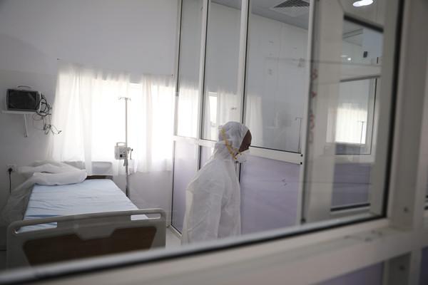 ▲新冠肺炎,新冠病毒,隔離病房,葉門。(圖/路透)