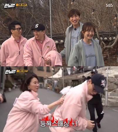 ▲李光洙杵著拐杖回歸《Running Man》。(圖/翻攝自SBS Running Man YouTube)