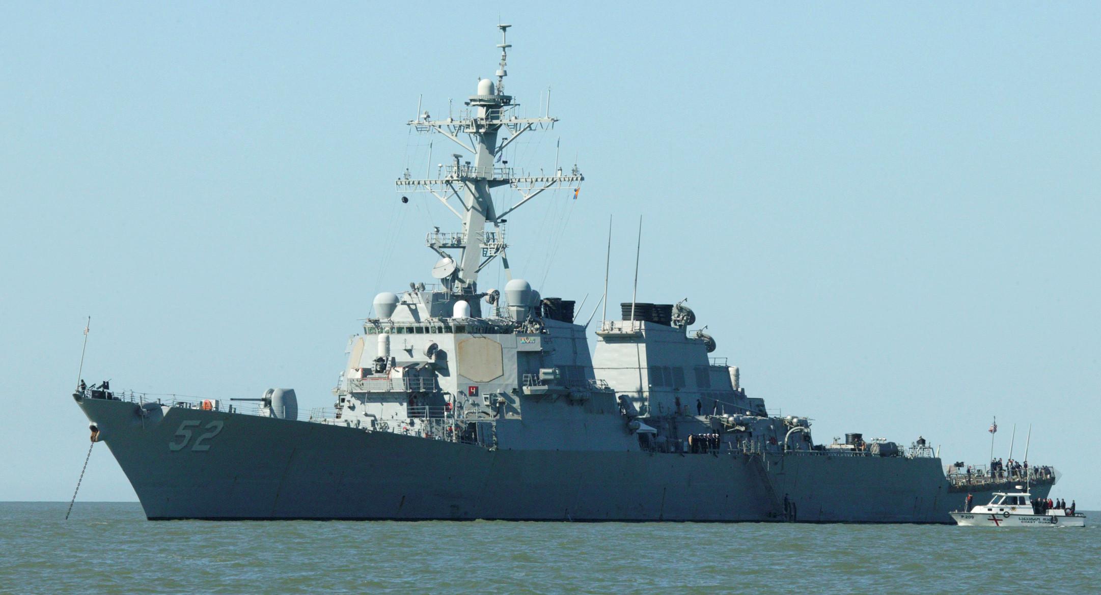 ▲▼貝瑞號驅逐艦(USS Barry DDG-52)編在美軍第六艦隊旗下。(圖/達志影像/美聯社)