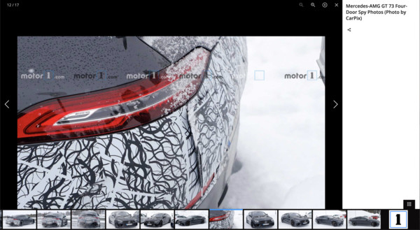 ▲賓士AMG GT73測試間諜照。(圖/翻攝自Motor1)
