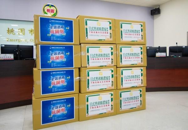 ▲勤億蛋品及蛋寶生技捐贈防疫物資