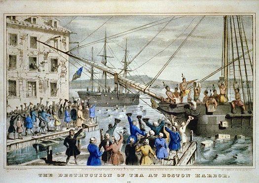 ▲▼波士頓茶葉事件 。(圖/翻攝自Wiki)