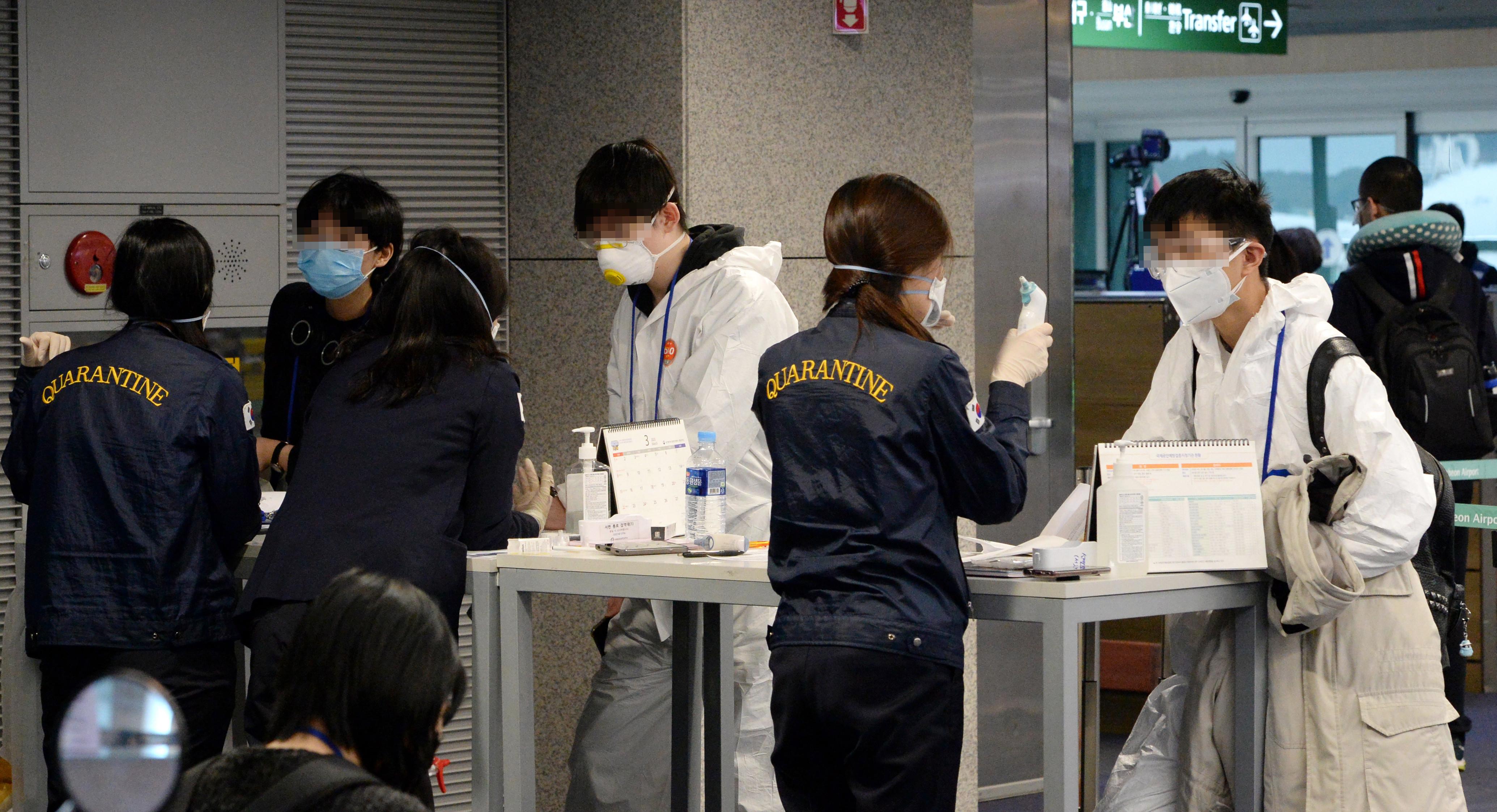 ▲▼ 南韓仁川機場檢疫站。(圖/達志影像)