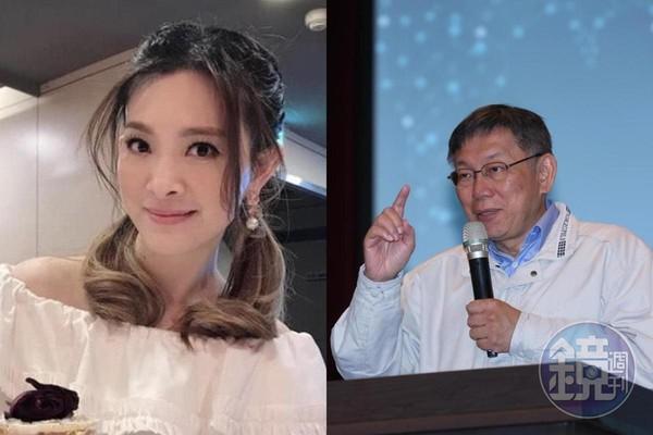 吳宗憲透露台北市長柯文哲曾到醫院探視劉真。(左圖為翻攝自劉真臉書,右圖為資料照)