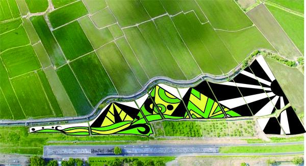 「來自山的禮物」彩繪稻田現身花蓮 還能順遊山線最美車站