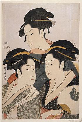 ▲▼圖為《寬政三美人》,由喜多川歌麿描繪。(圖/取自Wiki)