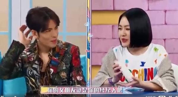 ▲蕭敬騰被小S問「女朋友是不是經紀人?」。(圖/翻攝自微博)