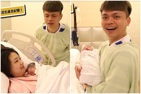 ▲蔡波能出生。(圖/翻攝自YouTube/蔡阿嘎)