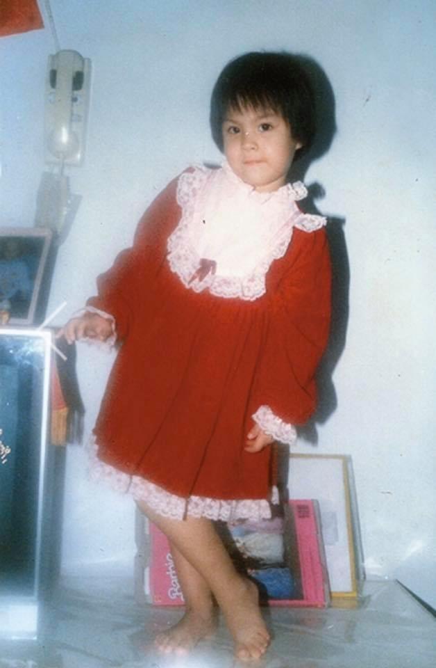 ▲魏蔓兒童節PO出自己的童年照。(圖/翻攝自魏蔓臉書)