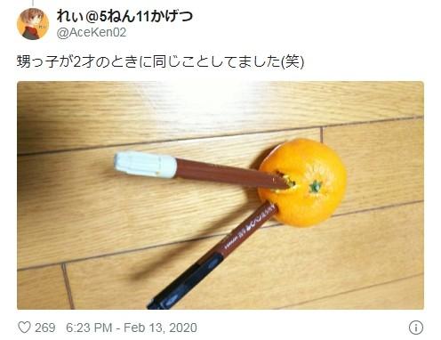 ▲橘子筆筒(圖/翻攝自Twitter/AceKen02)