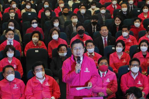 ▲▼未來統合黨在南韓國會選舉面臨慘敗(圖/美聯社)