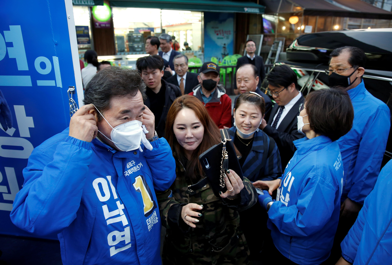 ▲▼南韓前國務總理李洛淵在此次選舉中擊敗對手黃教安(圖/路透社)