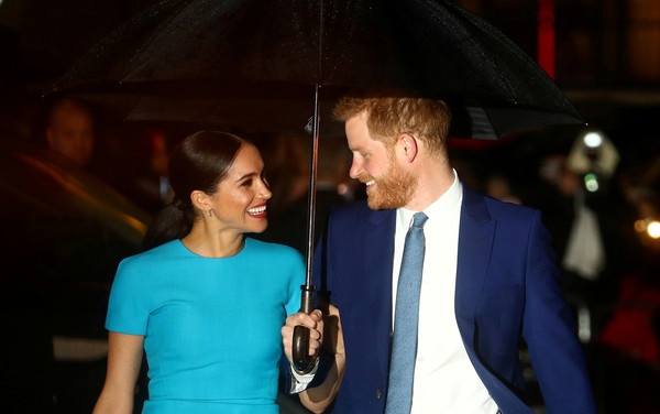 ▲▼英國哈利王子與妻子梅根。(圖/路透)