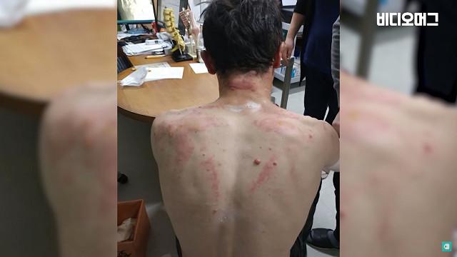 ▲▼哈薩克籍男子阿里捨命衝入火場,救出50多歲老婦(圖/翻攝自Youtube@비디오머그 - VIDEOMUG)