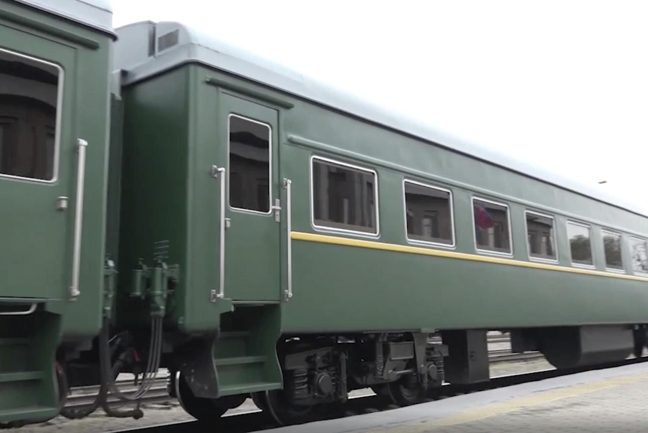 ▲▼北韓,金正恩,專用列車(圖/美聯社)
