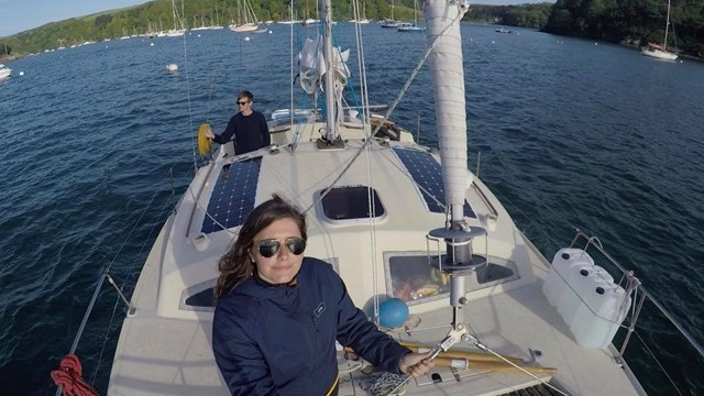 ▲▼ 一對情侶海上航行,自主隔離25天。(圖/翻攝自Facebook/Sailing Kittiwake)