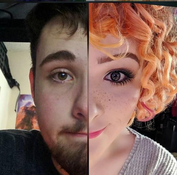 ▲▼22歲跨性別者接受「激素替代療法」。(圖/翻攝自Instagram/tayloraves)