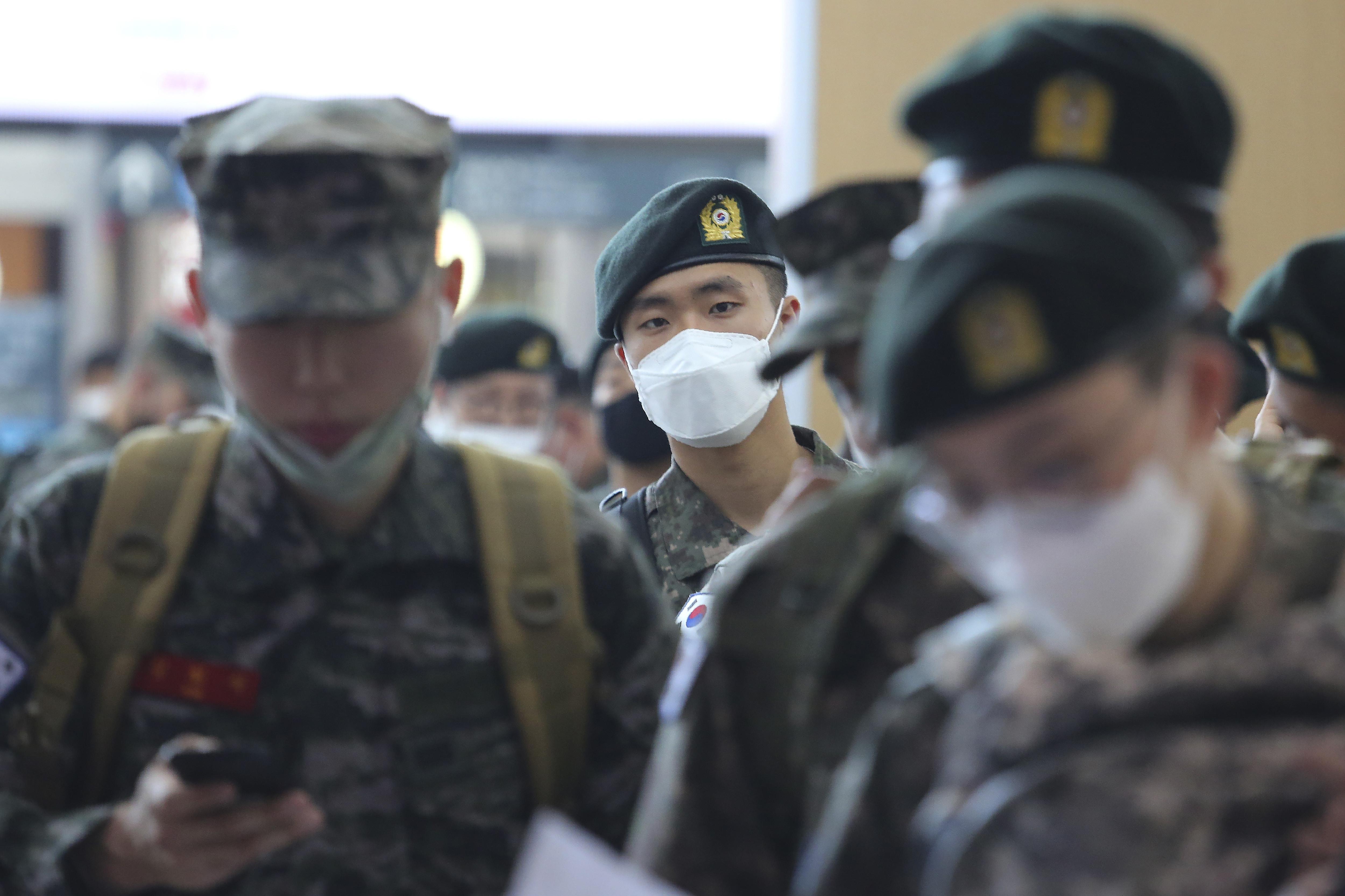 ▲▼南韓軍隊也因梨泰院夜店,而出現感染者(示意圖/達志影像/美聯社)