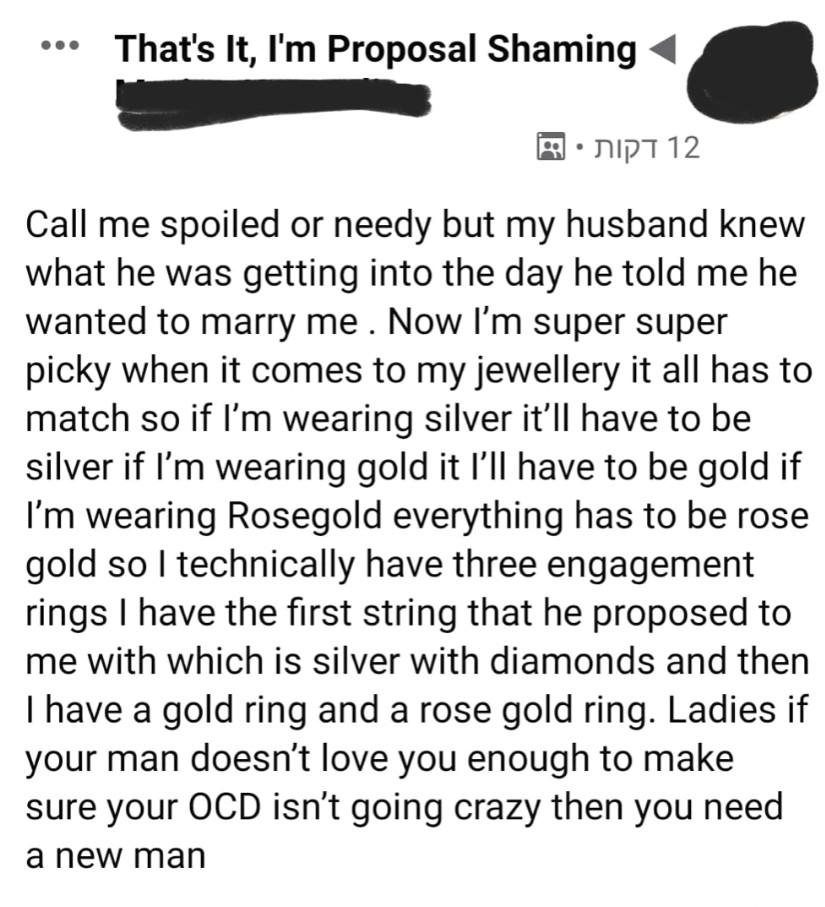 ▲▼公主病新娘開口要3枚鑽戒(圖/翻攝自Facebook)