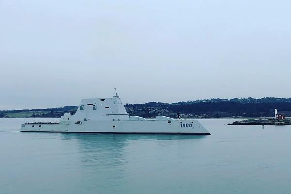 要價44億美元匿蹤戰艦「朱瓦特號」 完成艦炮結構性測試