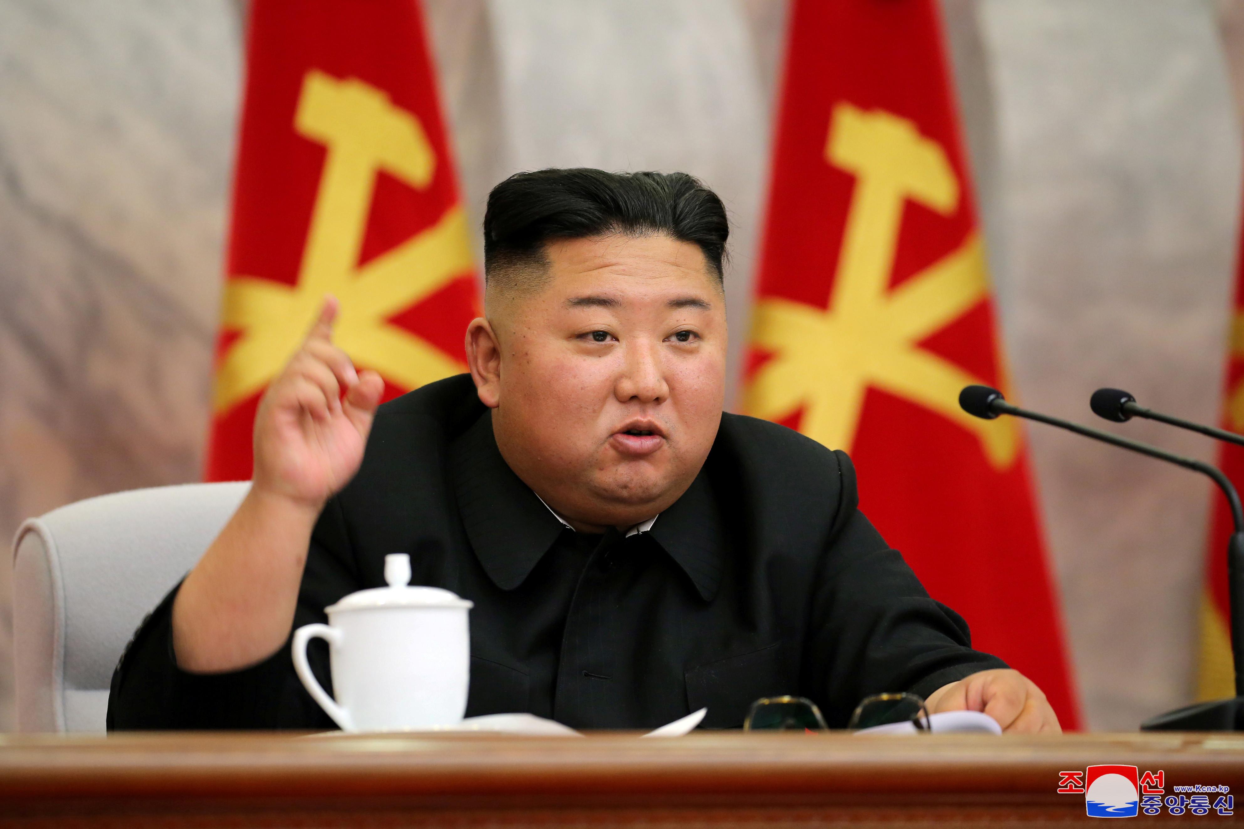 ▲▼北韓領導人金正恩主持勞動黨中央軍事委員會會議。(圖/路透)