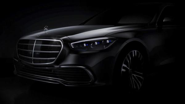 ▲賓士公布新一代S-Class官方車頭預告照。(圖/翻攝自Mercedes-Benz)