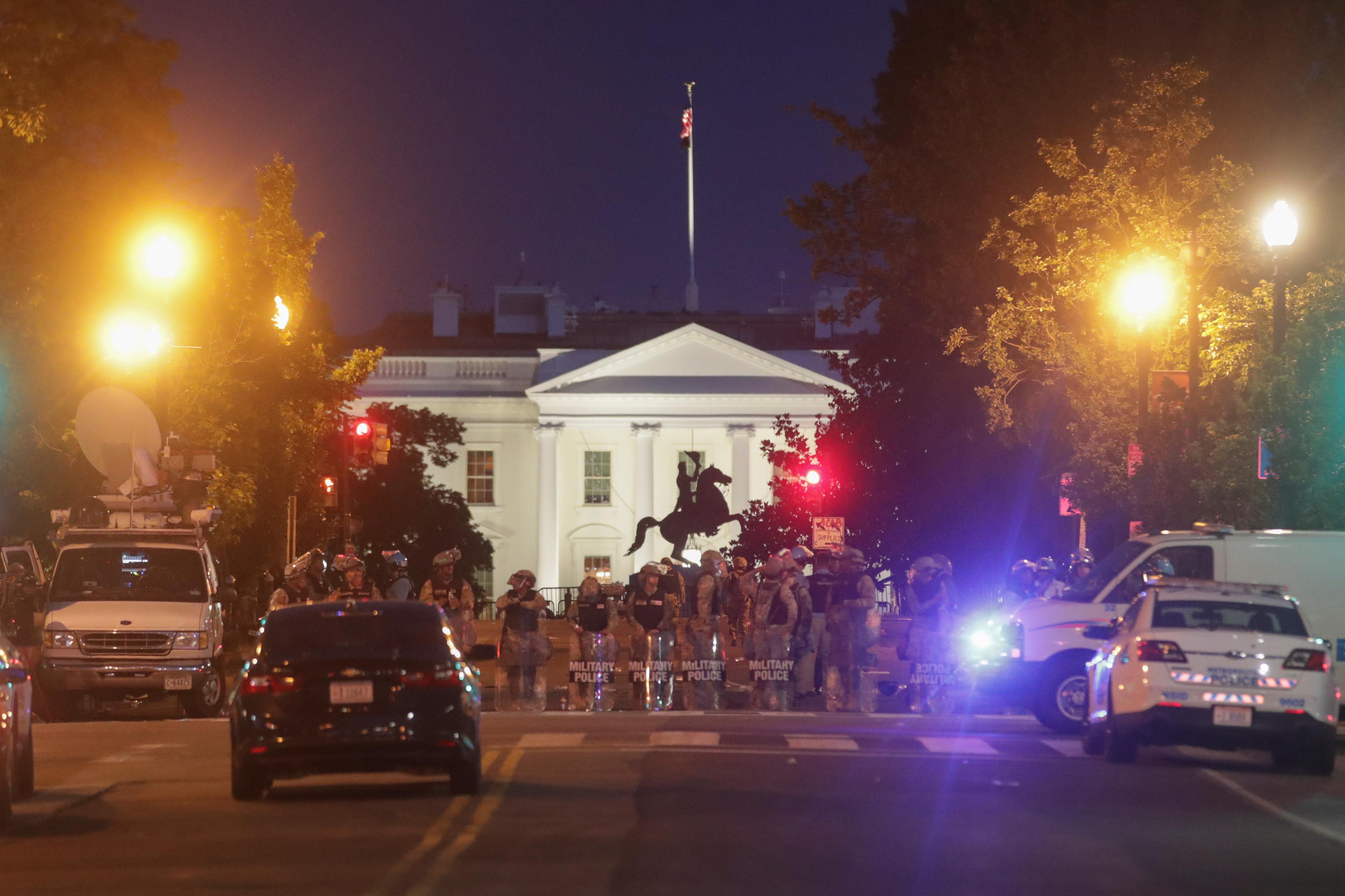 ▲美國,華盛頓特區,佛洛伊德,George Floyd,示威,白宮。(圖/路透)