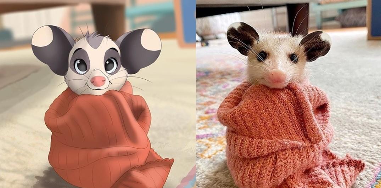 ▲▼一位荷蘭插畫家將寵物「迪士尼化」。(圖/翻攝自YouTube/pet_disneyfication)
