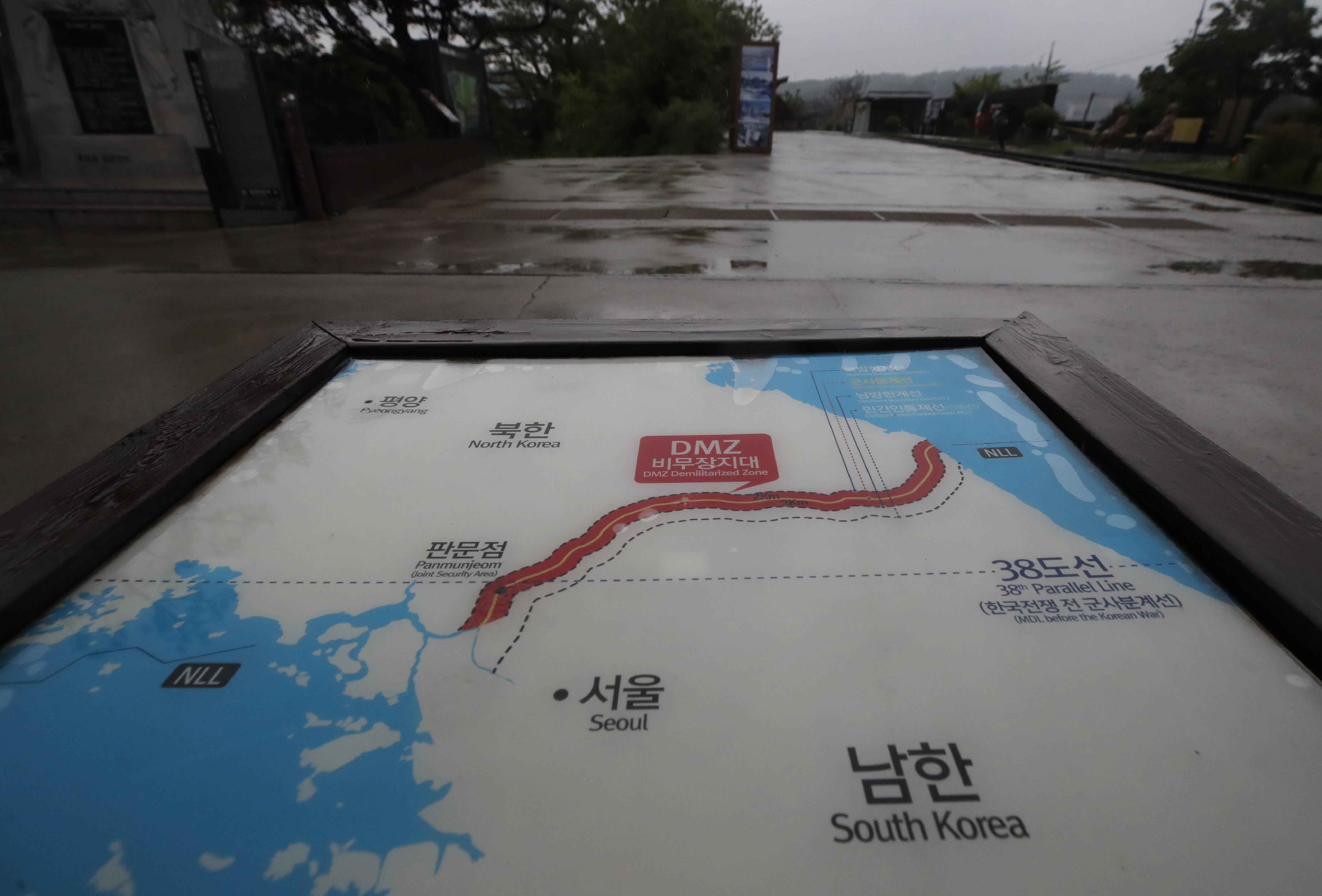 ▲▼北韓,軍事分界線,交界地帶,坡州,開城。(圖/達志影像/美聯社)