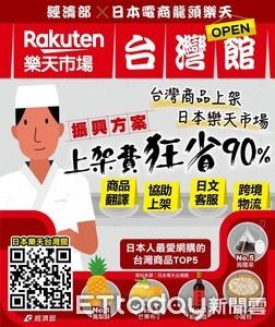 經濟部攜手日電商龍頭 台灣商品外銷「上架費狂省90%!」