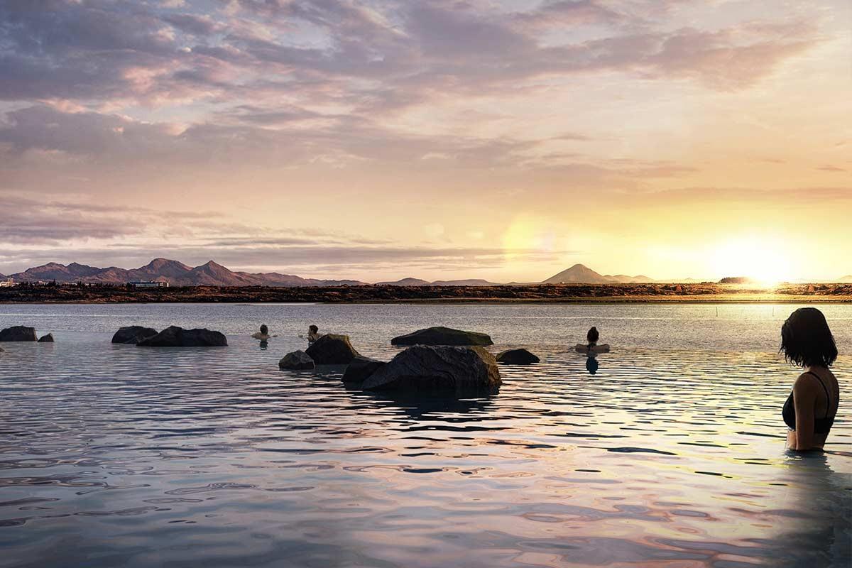 ▲▼冰島人工潟湖改建為無邊際溫泉(圖/翻攝自skylagoon.com)