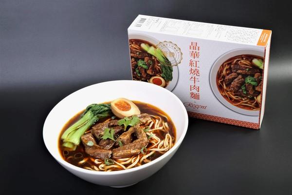 東森購物獨家開賣晶華紅燒牛肉麵(圖/東森購物提供)