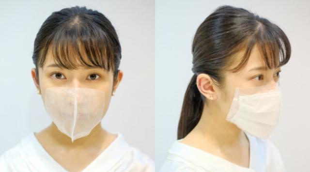 ▲▼日本美髮業推出「用貼的口罩」。(圖/翻攝自Salone De Mask官網)